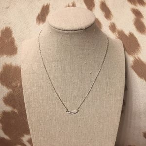 Kendra Scott Whitlee Silver Pendant Necklace